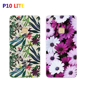 "Huawei p10 lite Case,Silicon Flowers plant Painting Soft TPU Back Cover for huawei p10 lite 5.2"" Phone protect Bags shell"
