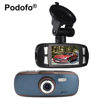 "Podofo Novatek 96650 Araba DVR Kamera 2.7 ""LCD Video Kaydedici WDR ile GS108 Blackbox 1080 P G-Sensör Dash cam Registrator G1W"