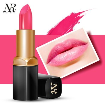Brand Gentle Texture Long Lasting Women Moisturizing Lip Stick Waterproof Lady Lip Makeup Bright Color Lipstick
