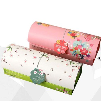 Japanese-style pink and green sakura flowers cake box and paper bag set pastry biscuit mooncake box gift packaging 10pcs/lot