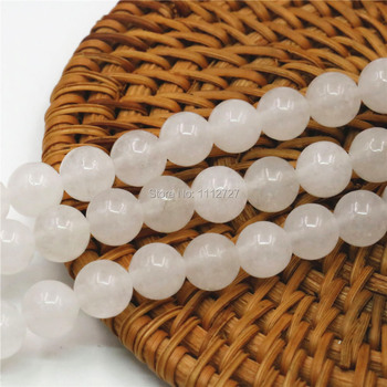 4 6 10 12mm Accessory Crafts Parts White Semi Finished Stones Loose Beads Round Diy Crafts Jewelry Making Crystal Gifts 15inch